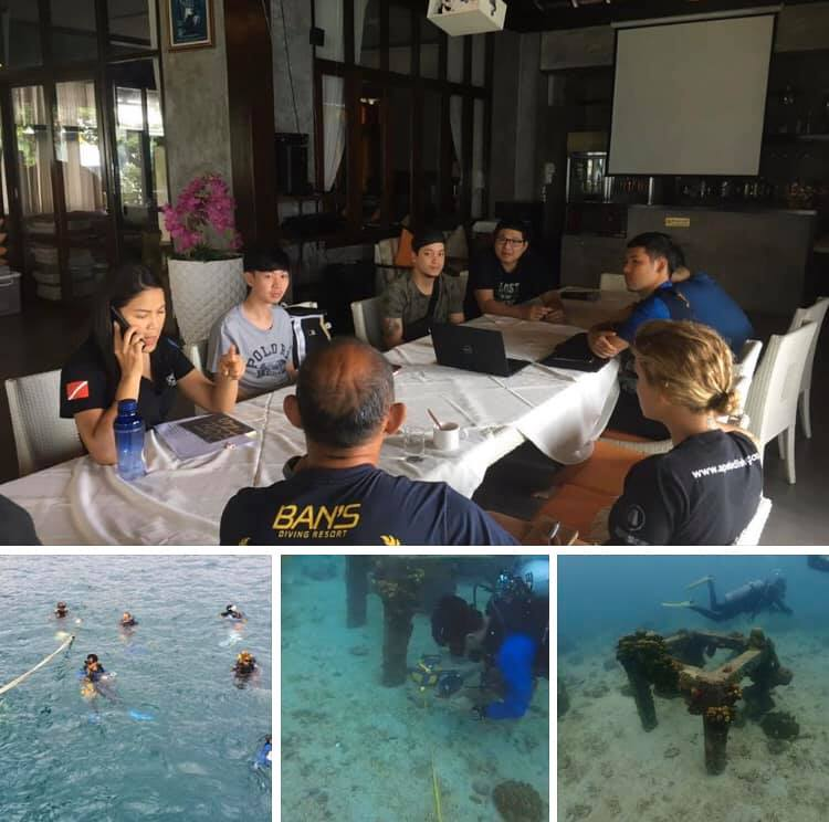 สำรวจพื้นที่ เตรียมวางจุดฟื้นฟูปะการังเกาะเต่า