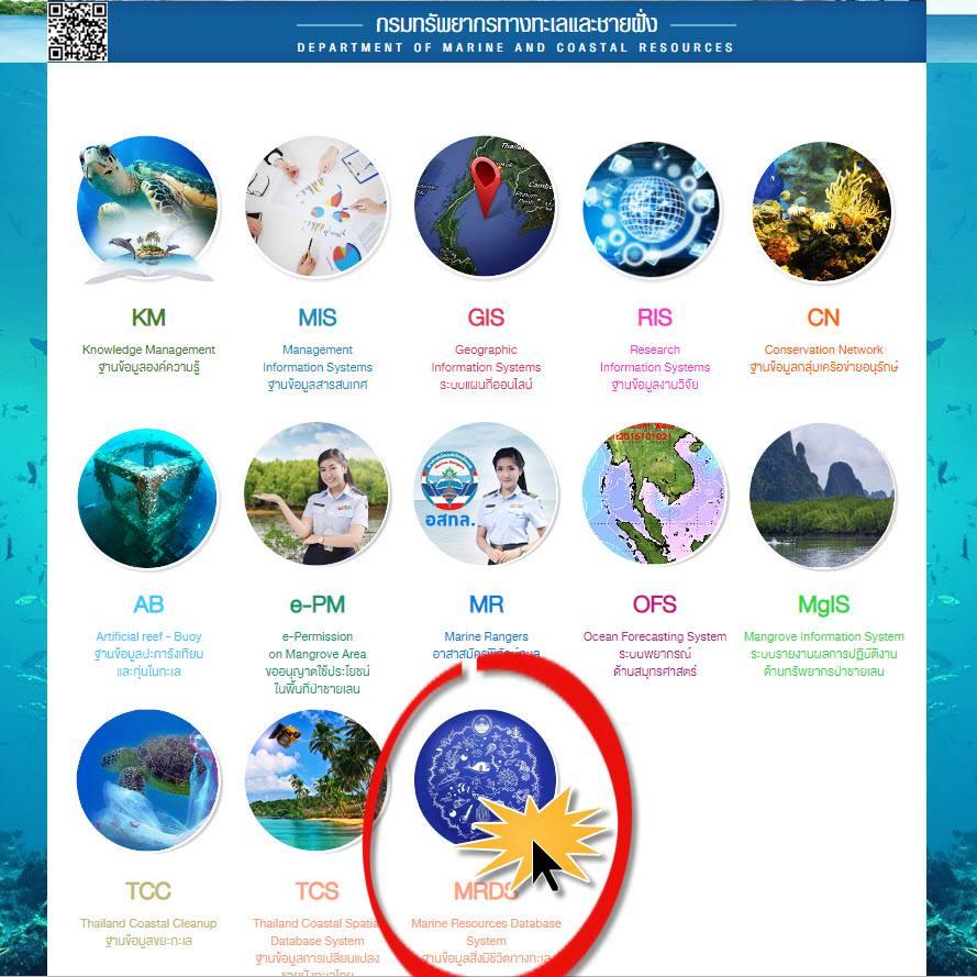 ระบบฐานข้อมูลสิ่งมีชีวิตทางทะเล หรือ MRDS