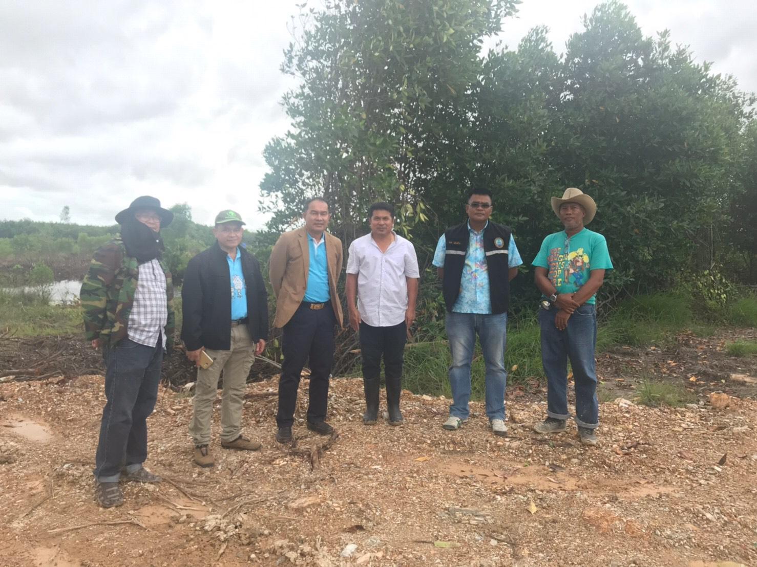 รองอธิบดี ทช. ตรวจเยี่ยมโครงการจัดสร้างสวนพฤกษศาสตร์ป่าชายเลนนานาชาติ ร.9