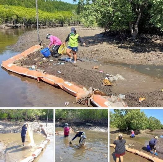 รวมพลังอาสาสมัครชาวปราณบุรี ดักเก็บขยะก่อนออกทะเลประจวบ