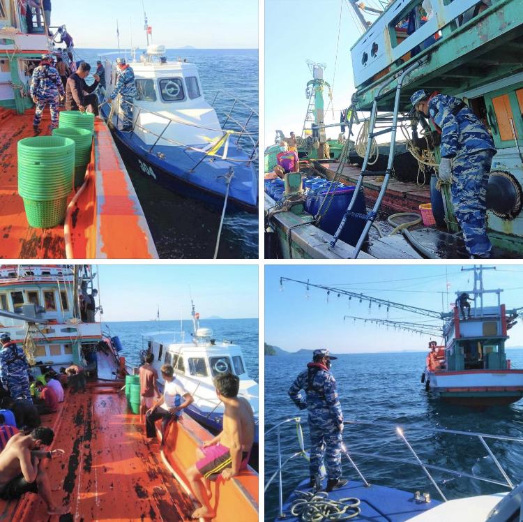 ตรวจเรือ IUU ป้องปรามการประทำผิดในทะเลภูเก็ต