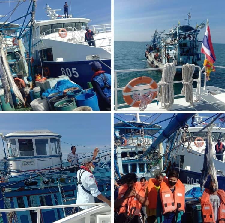 ตรวจเรือประมงทะเลกระบี่ เอกสารครบตามระเบียบ IUU