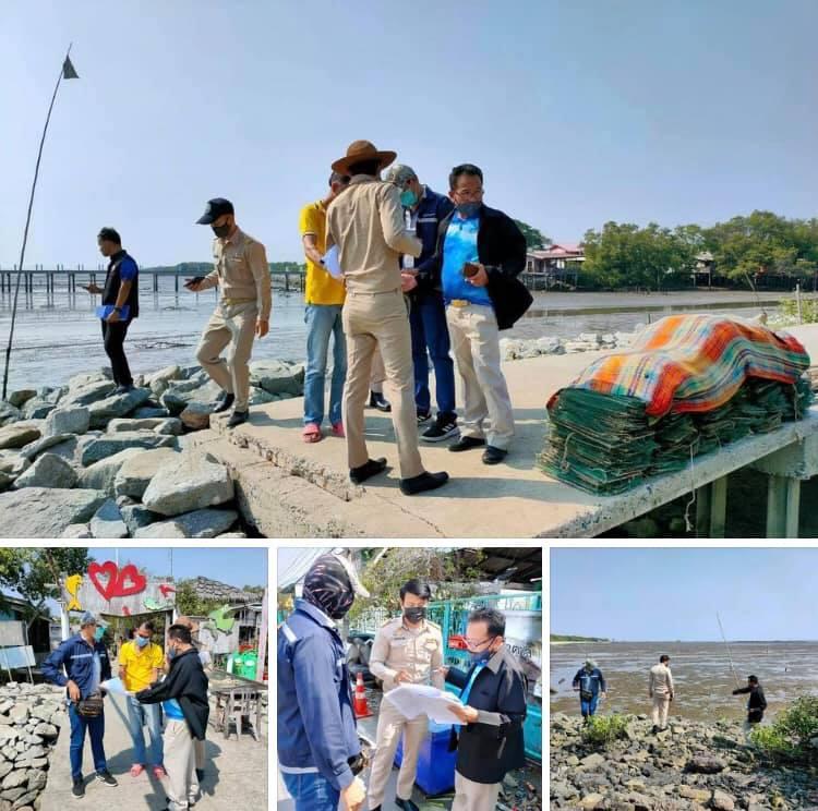 ตรวจสอบที่ตั้งเขื่อนป้องกันกัดเซาะเมืองสมุทรปราการ