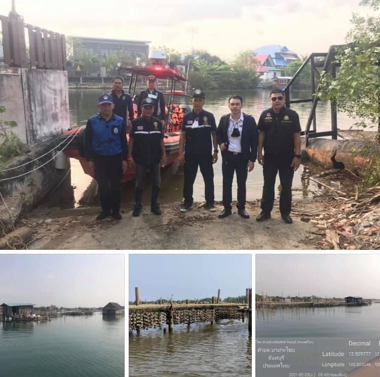 บูรณาการตรวจพื้นที่แม่น้ำจันทบุรี