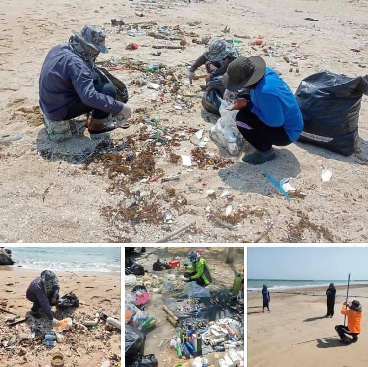 ศึกษาชนิดขยะทะเลชายหาดเพชรบุรีและประจวบคีรีขันธ์