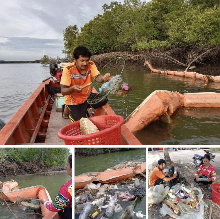 จัดเก็บแยกขยะทะเล ออกจากปากคลองปากบารา