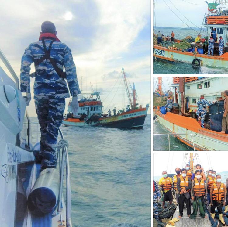 ตรวจเรือประมงทะเลกระบี่ เอกสารครบไม่พบผิดกฎหมาย