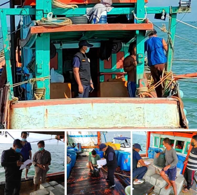 ตรวจเรือประมงทะเลปัตตานี เอกสารครบตามระเบียบ IUU
