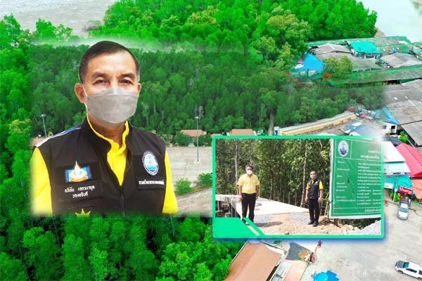 รองอธิบดี ทช. ติดตามการดำเนินโครงการพัฒนาป่าชายเลนในเมืองเพื่อเสริมสร้างศักยภาพการท่องเที่ยวอ่าวบ้านดอน จังหวัดสุราษฎร์ธานี