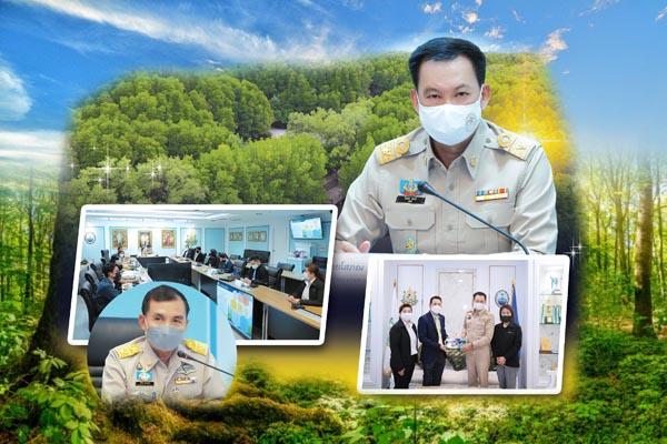 ทช. ร่วมกับ อบก. หารือแนวทางการดำเนินกิจกรรมปลูกป่าชายเลน และการขึ้นทะเบียนขอรับประเมินคาร์บอนเครดิต