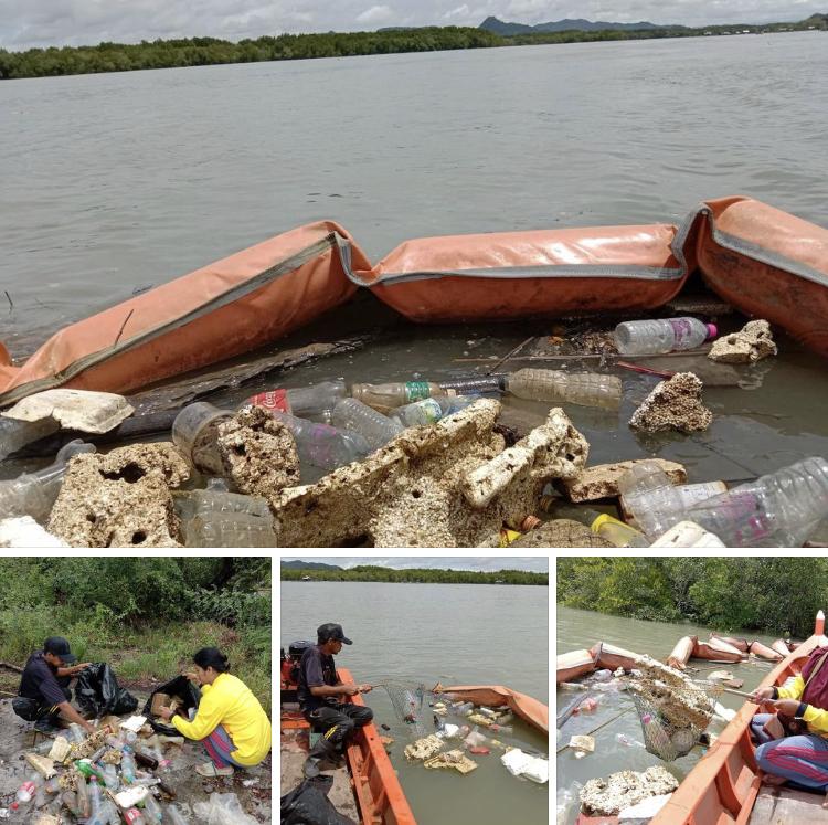 เก็บขยะต่อเนื่อง มุ่งลดขยะลอยน้ำก่อนไหลออกสู่ทะเลสตูล
